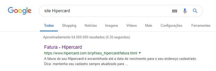 Fatura Hipercard